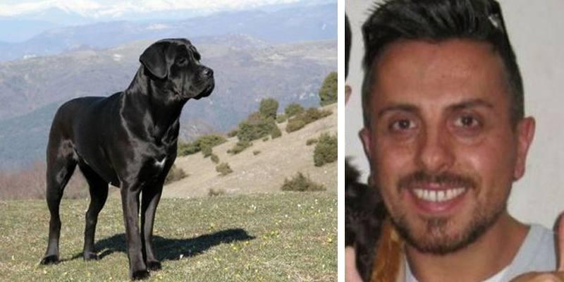sbranato a morte dal suo stesso cane