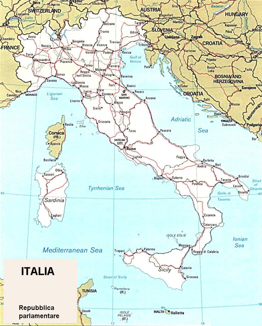 cartina politica italiana
