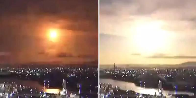 La palla di fuoco che ha illuminato il cielo del Giappone
