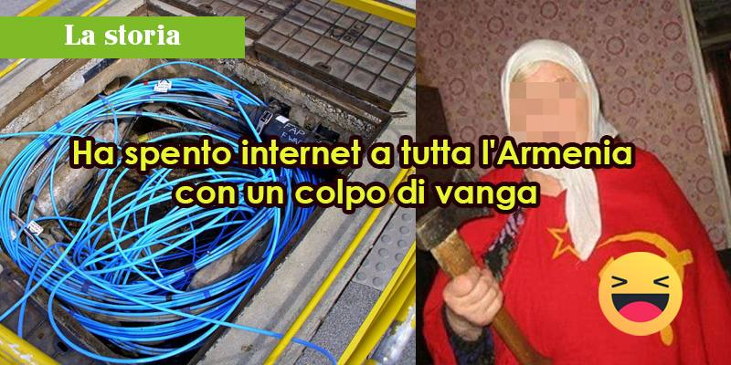 Ha spento internet a tutta l'Armenia con un colpo di vanga