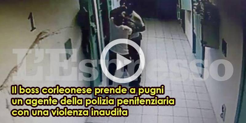 Leoluca Bagarella prende a pugni un agente della penitenziaria