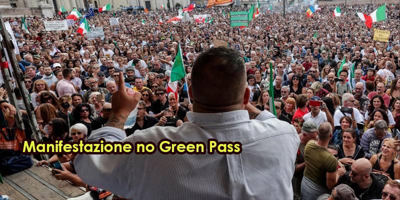 Manifestazione no Green Pass: la protesta dei 10 mila